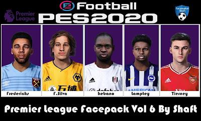 PES 2021 Premier League Facepack Vol 6 by Shaft