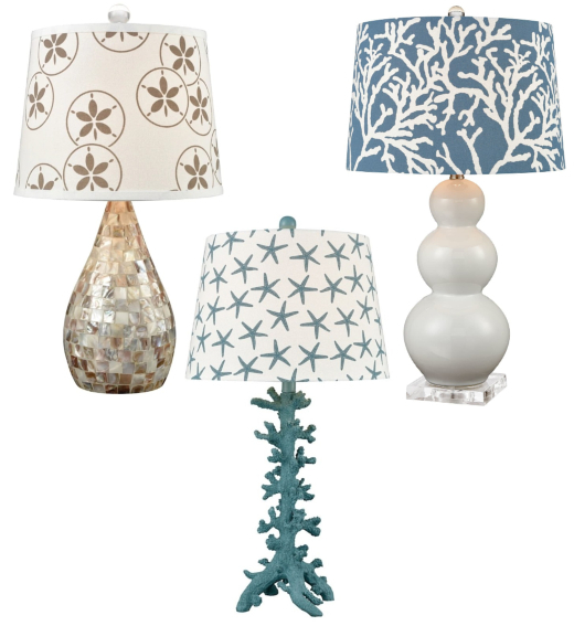 Coastal Table Lamps and Shades