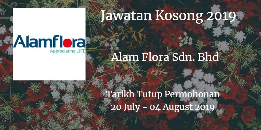 Jawatan Kosong Alam Flora Sdn. Bhd 20 July - 04 August 2019