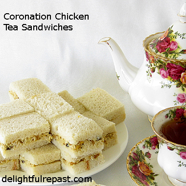 Coronation Chicken Tea Sandwiches / www.delightfulrepast.com