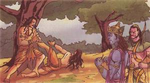 दो माताओं के गर्भ से जन्मे महाबली जरासंध की कथा। Story of Jarasandh who birth by two mothers.