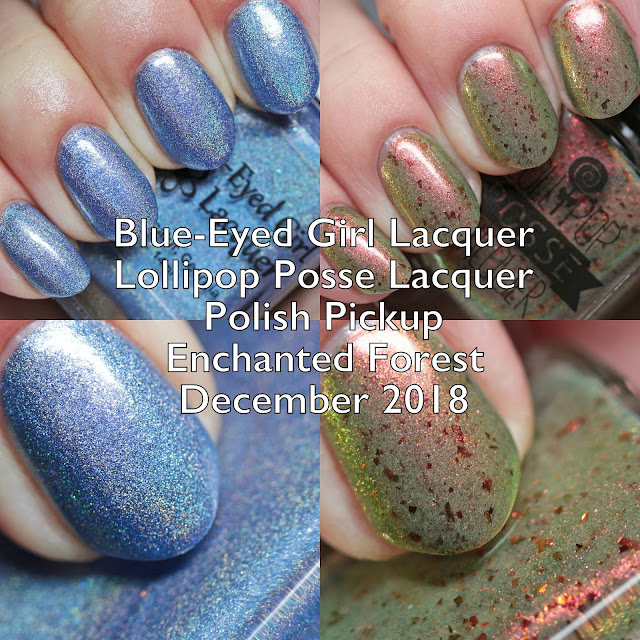 Blue-Eyed Girl Lacquer and Lollipop Posse Lacquer for Polish Pickup Enchanted Forest December 2018