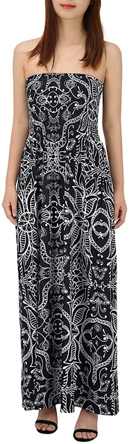 Cute Black Strapless Maxi Dresses