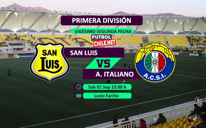 PREVIA: San Luis vs Audax Italiano