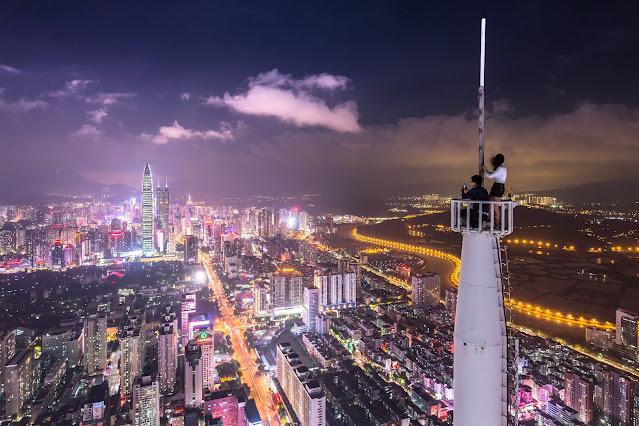 China trade modern skyline