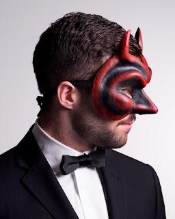 Devil full face mask for a man