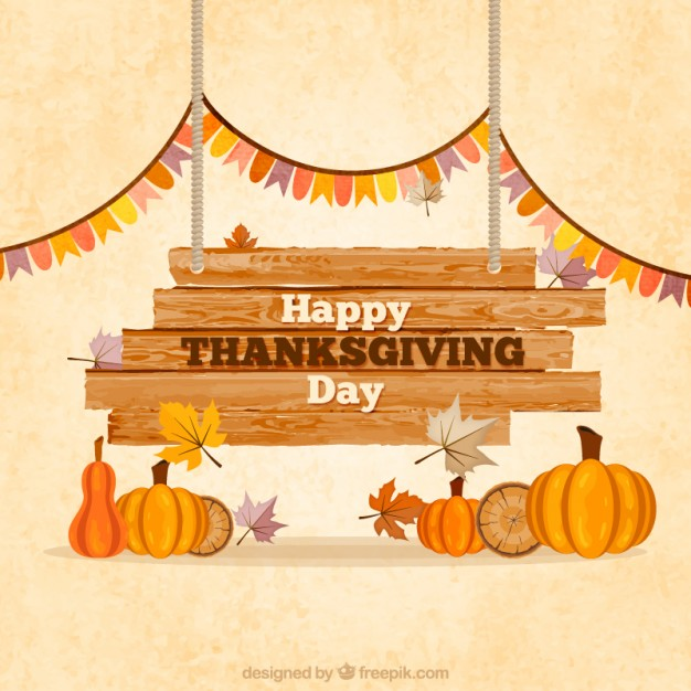 thanksgiving sign Free Vector