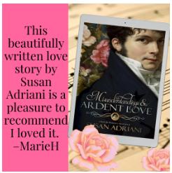 misunderstandings and ardent love, susan adriani, austen in august, the book rat, pride and prejudice retellings, jane austen retellings, mr darcy