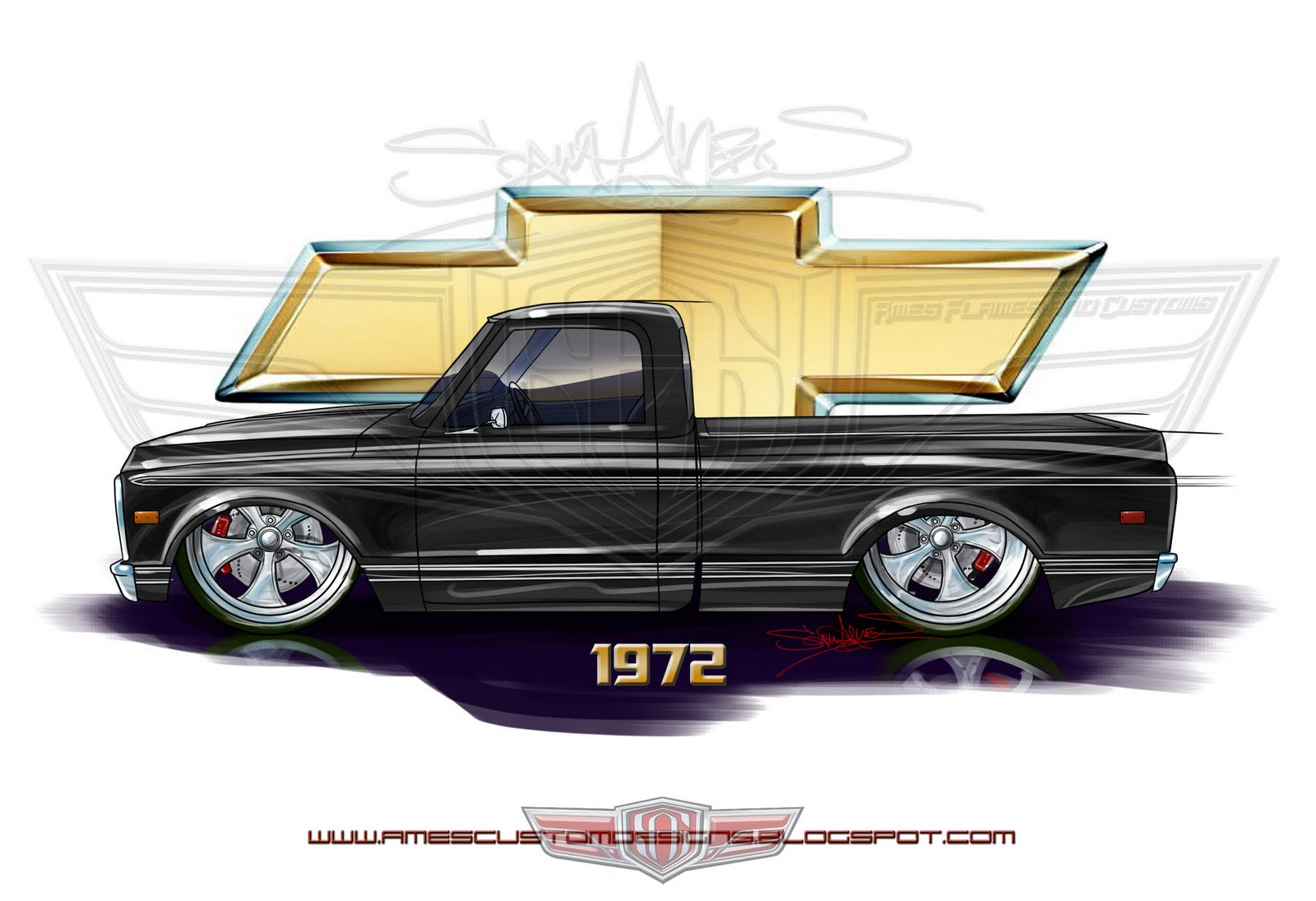 All Chevy chevy c10 short bed : SAM AMES: 1972 Chevy C10 Shortbed Fleetside