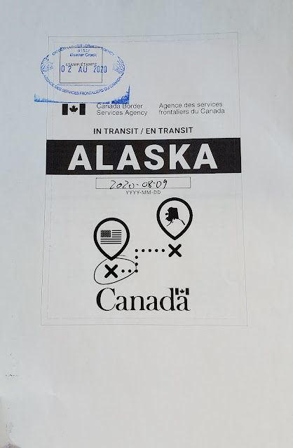 Tag for in transit through Canada