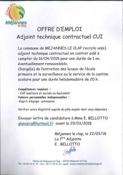 La Tribune Du Clap La Mairie Cherche Un Agent D Entretien
