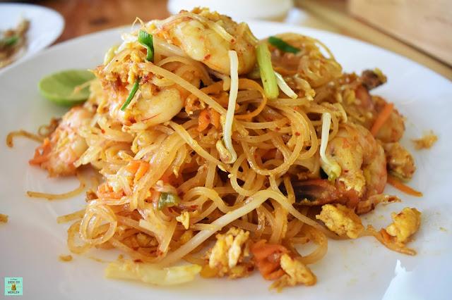 Pad Thai en el restaurante Sangchan de Koh Kood