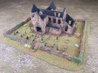 Ruined church scratch built model