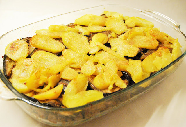 Gratin pommes de terre - aubergines - hâchis