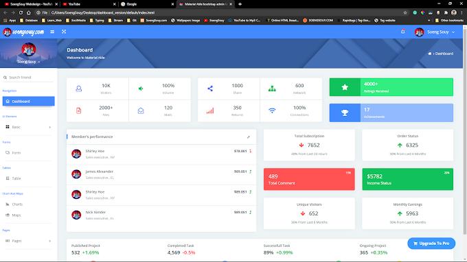 admin dashboard version 01