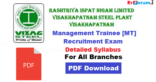 Pdf Vizag Steel Mt Syllabus For All Branches Erforum
