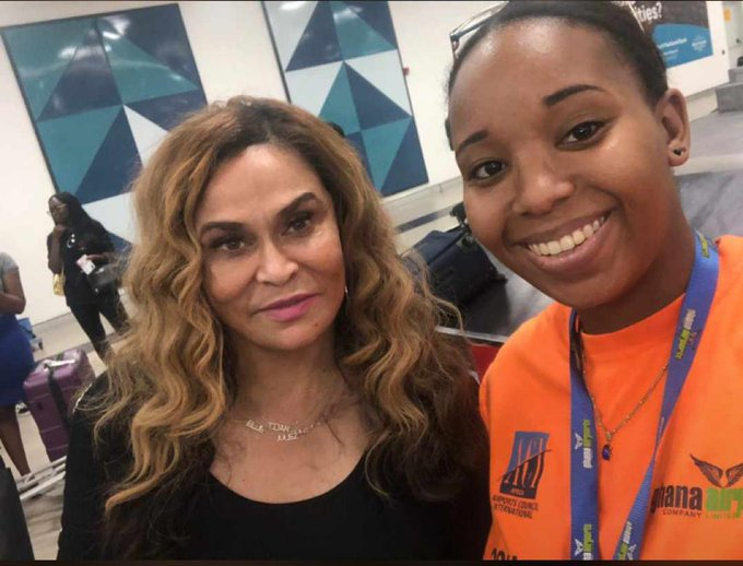 Video: Beyonce's mother Tina Knowles is already in Ghana for New Year's celebrations.
