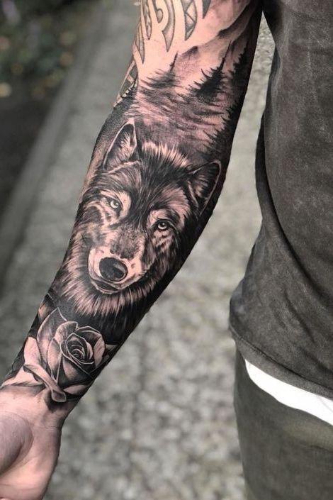 Wolf Forearm Tattoo