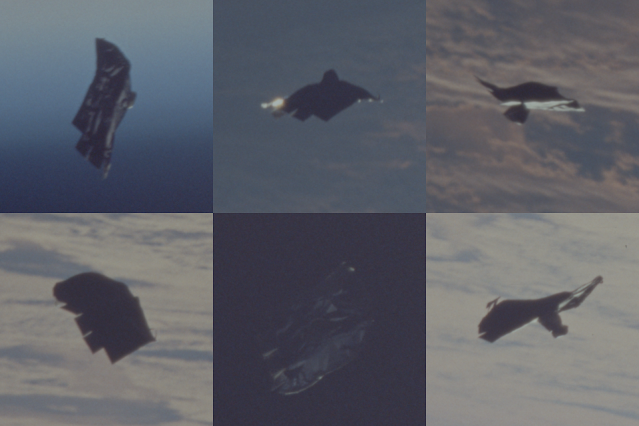 This is the original photos of the Black Knight Satellite UFO taken by NASA.