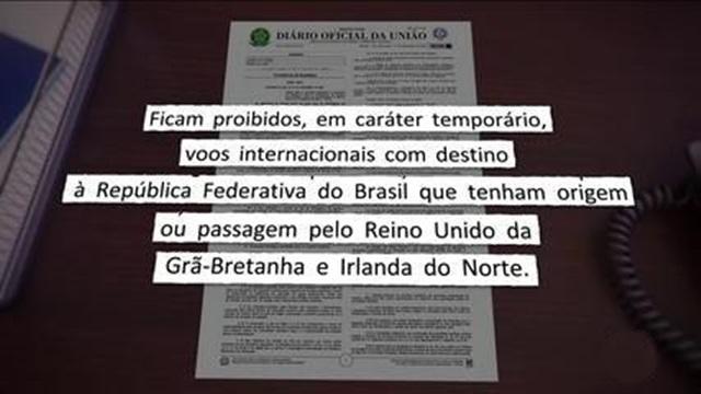 Brasil proibirá a entrada de passageiros do Reino Unido a partir deste Natal