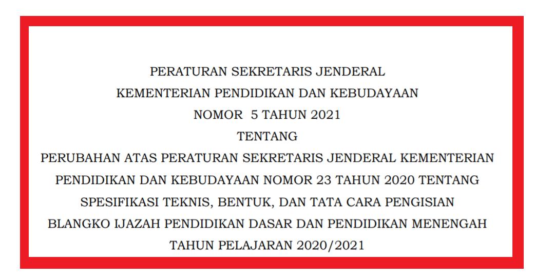 gambar juknis penulisan ijazah 2021