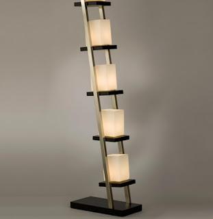 Standing Lamp With Shelves Modern Design