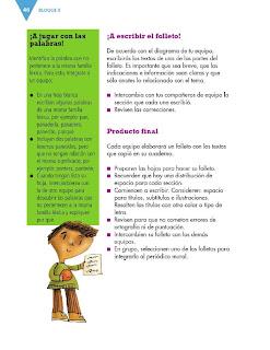 Apoyo Primaria Formación Español 3ro. Grado Bloque II Lección 4 Practica social del lenguaje 4, Elaborar un texto monográfico sobre pueblos originarios de México