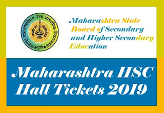 Maharashtra 12th Hall tickets 2019, HSC Hall ticket 2019, Maharashtra HSC Admit card 2019