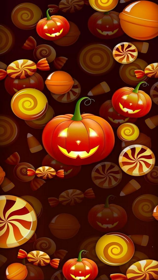 Wallpaper Horror, zucche, Halloween,