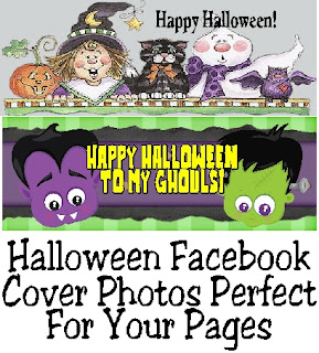 Decorate your Facebook pages with these Halloween Facebook cover photos.  With 6 fun designs to choose from, you can change your cover photo out every week and still have the Halloween spirit.  #halloween #facebookcoverphoto #halloweendecoration #diypartymomblog