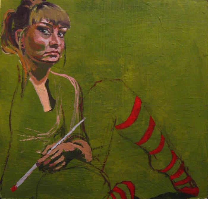 portret malarstwo autoportret Katarzyna Urbaniak
