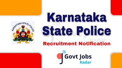 KSP recruitment notification 2019, govt jobs in Karnataka, Karnataka govt jobs, govt jobs for 10th pass, govt jobs for 12th pass