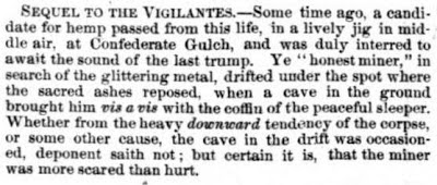 From the Montana Post, November 4, 1865