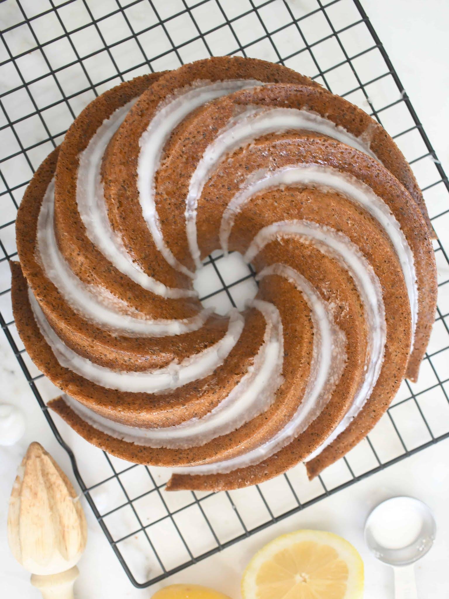 Step-by-step Homemade Lemon-Poppy Seed Bundt Cake
