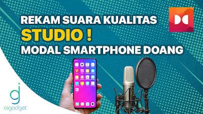 Cara Rekam Suara Jernih di Handphone Android iOS  APLIKASI KEREN REKAM SUARA - TUTORIAL DOLBY ON - aigadgetservice - aigadget - ai gadget service