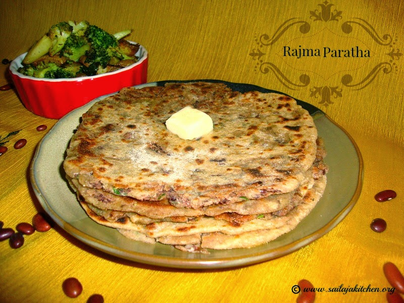 images for Rajma Paratha Recipe / Kidney Beans Paratha Recipe - Indian Flatbread Using Red Kidney Beans