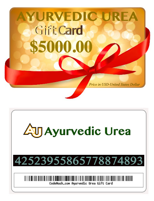 ayurvedic urea gift certificate and gift card