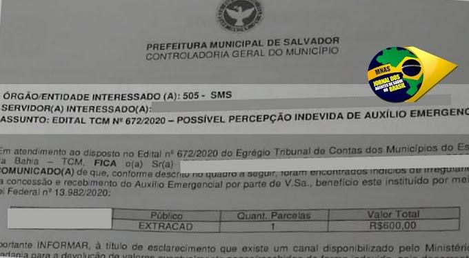 Revolta: Prefeitura notifica agentes de saúde (ACS/ACE) que supostamente tenham recebido o Auxílio Emergencial indevidamente.