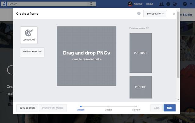 facebook photo frame create karna