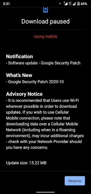 Nokia 3.2 receiving October 2020 Android Security patch