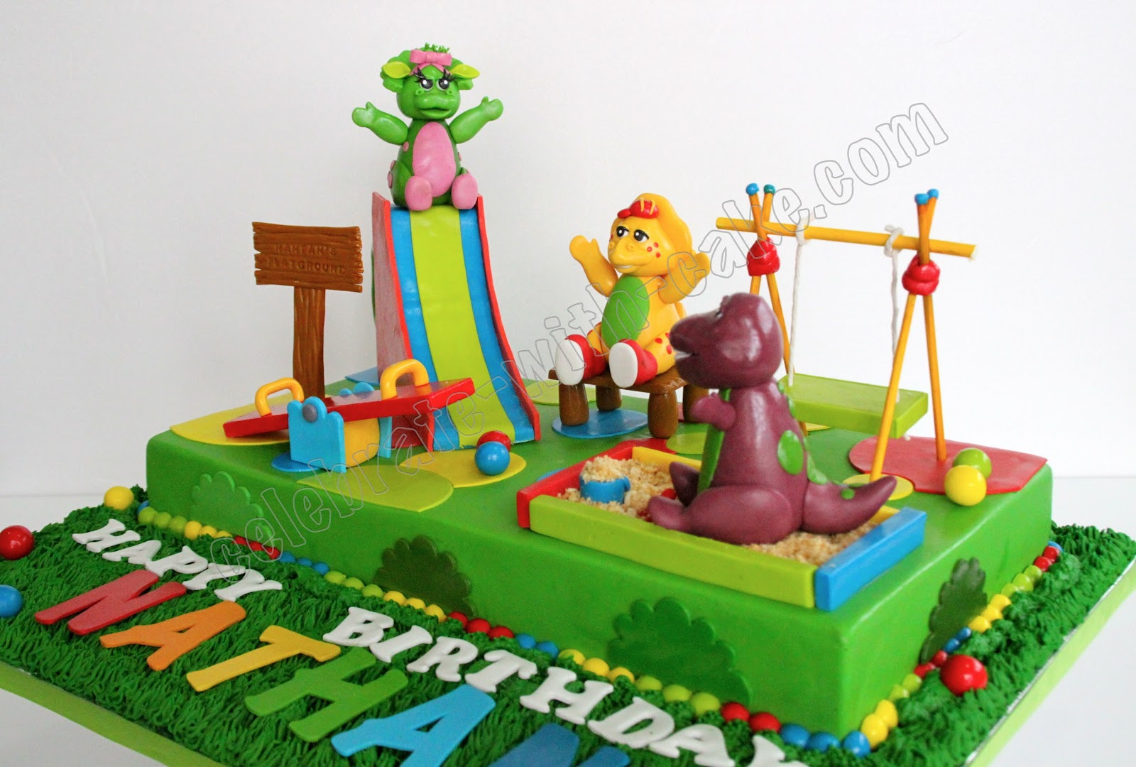 Barney Birthday Cake Singapore