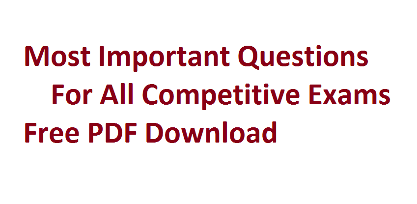 Maths Study Material For Competitive Exams PDF