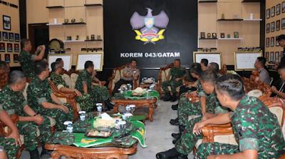 Kapolda Lampung Brigjen Pol Purwadi Arianto.SH,M,Si Kunjungi Korem 043 Gatam Lampung