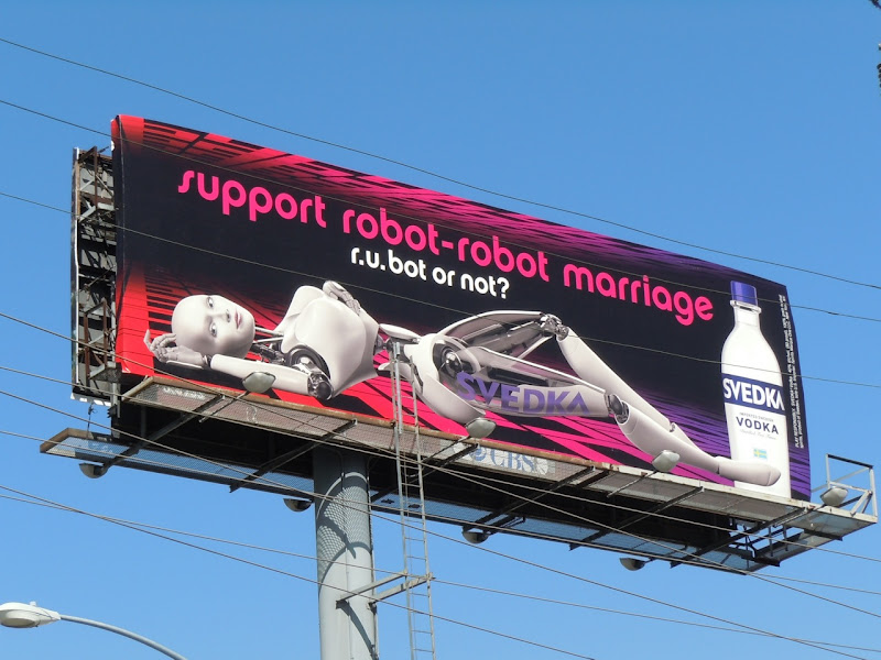 Svedka robot marriage billboard