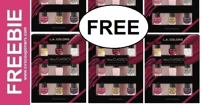 FREE LA Girl Holiday Gift Sets at CVS