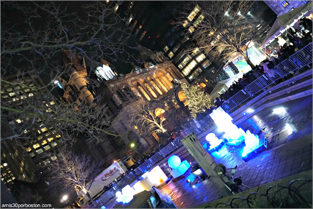 Copley Square durante la First Night de Boston