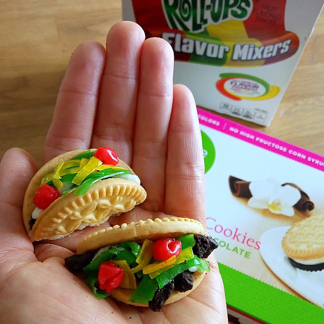 Take your next food art to the next level. Make cookie mini tacos for your next cinco de mayo party.  See more food art photos on growinguphui.com