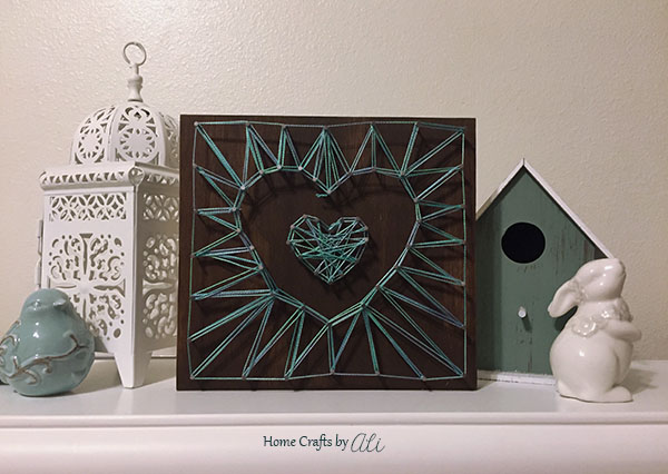 Step by Step String Art Tutorial with photos of each step