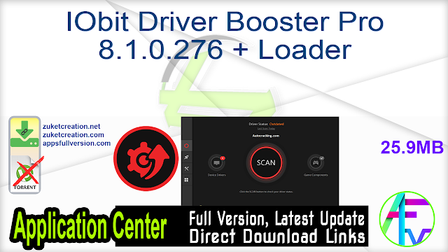 IObit Driver Booster Pro 8.1.0.276 + Loader