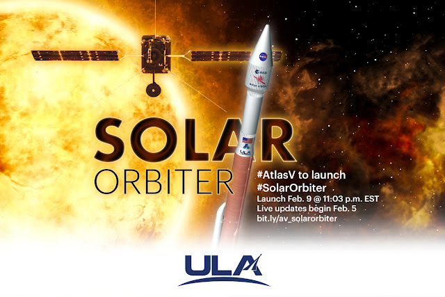 United Launch Alliance Set to Launch Solar Orbiter for NASA and ESA